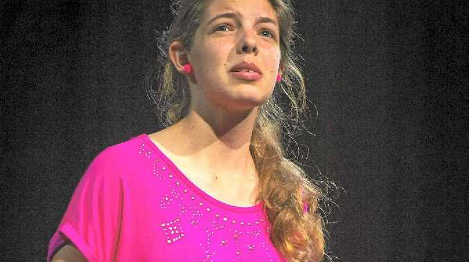 DRAMATIC: Caitlin Walker performing as part of the Prose Recital segment of the 44th Gladstone Eisteddfod.