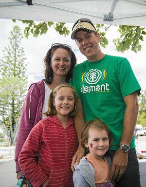 Mel, Steve, Stella, 8, and Elli Geelhoed, 4.