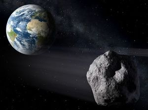 Near-miss as asteroid grazes Earth