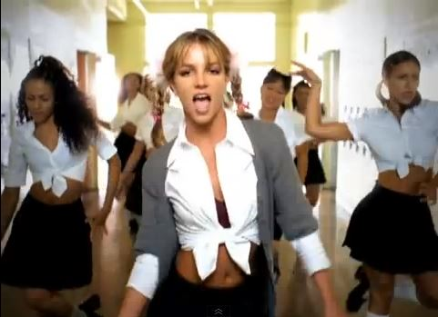 Britney Spears... school uniform video didn't help the cause.
