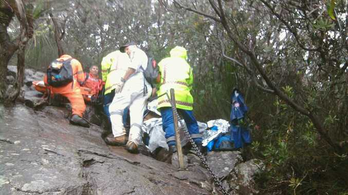 A woman in her 60s was injured on Mt Warning on Sunday.