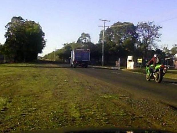 CATCH HIM: Bundaberg Police are trying to identify this motorcyclist who has been clocked driving at speeds of up to 160km/h in a 60km/h zone. Photo: contributed