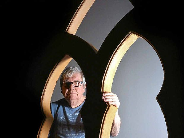 LOOKING FOR A SITE: Eumundi Independent Theatre president John Burls.