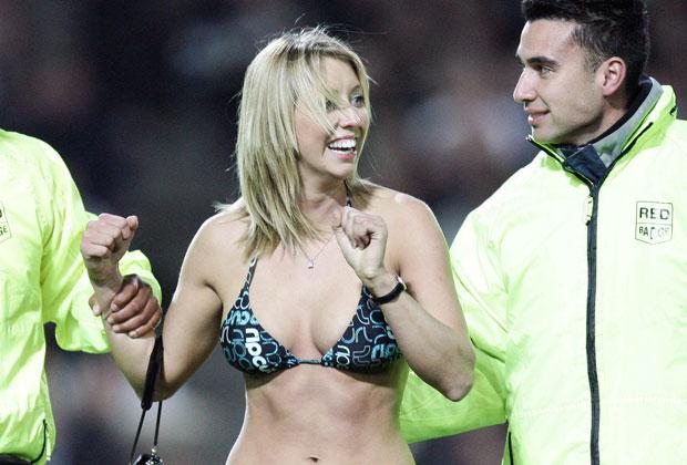 Lisa Lewis was fined $200 for her 2006 bikini-clad streak during an All Blacks vs Ireland test at New Zealand's Waikato Stadium