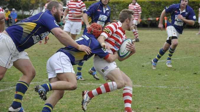 Rangers half Ben Meiklejohn on the attack against Dalby in last month's Risdon Cup semi-final.