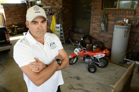 Camira resident Steven Holland had five motorcycles stolen from his property on Father's Day. Photo: Rob Williams / The Queensland Times