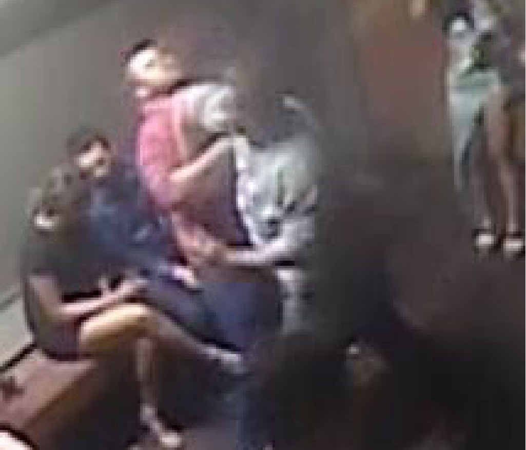 ALLEGED ASSAULT: CCTV footage of one of the incidents.