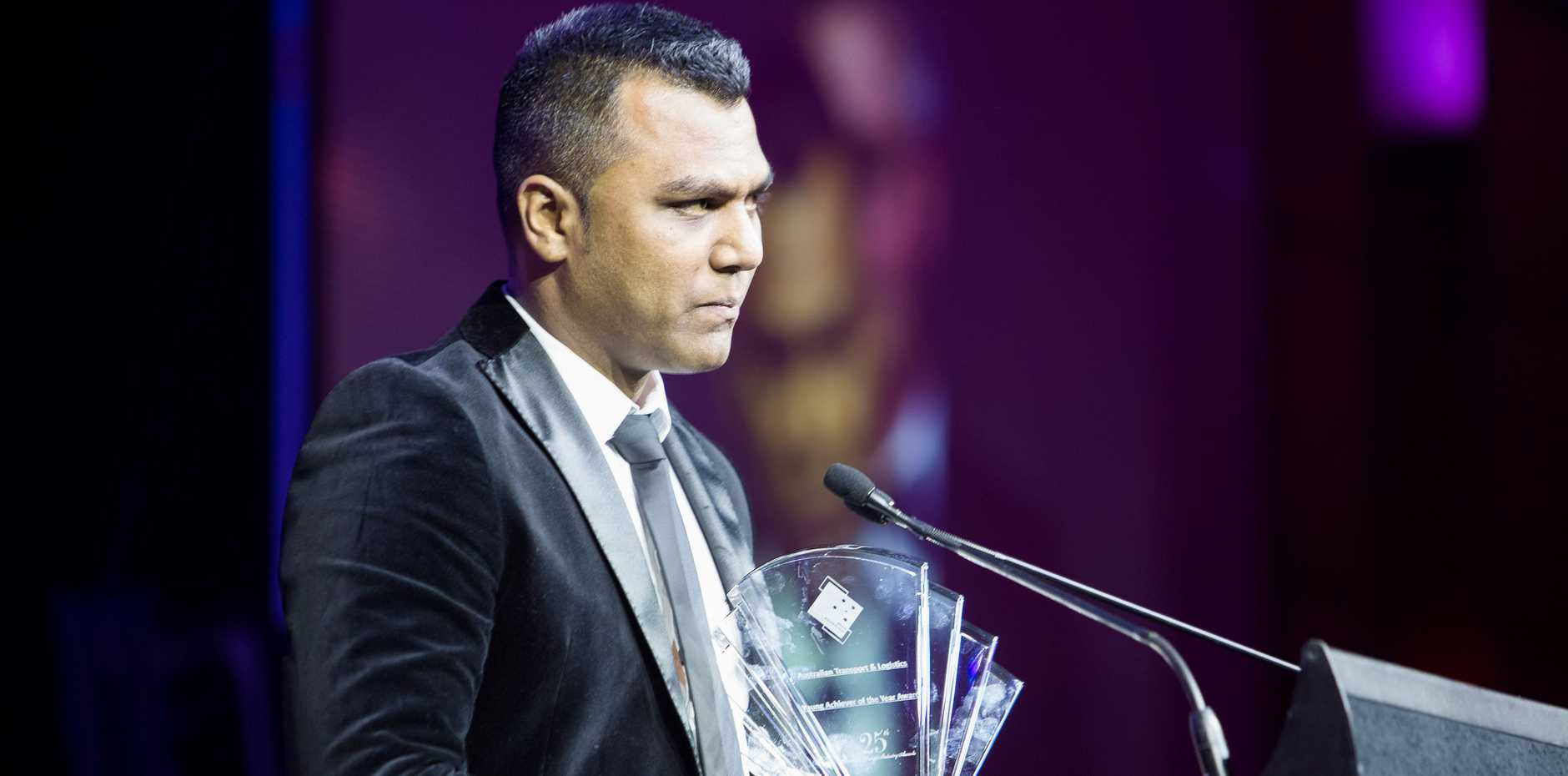 Fred Mohammed Managing Director of Cranes R Us was recognised as the 2014 Australian Transport & Logistics Young Achiever at the 25th annual Australian Freight Industry Awards on September 6.