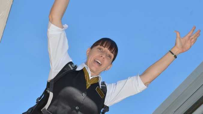 Belinda Hassan ready to jump for charity.