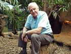 Sir David Attenborough pictured in a scene from the TV series Natural Curiosities.