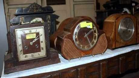 A large selection of clocks will be up for sale.