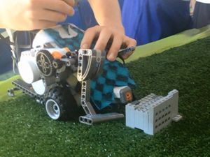 Students create their own robot for golf and hockey