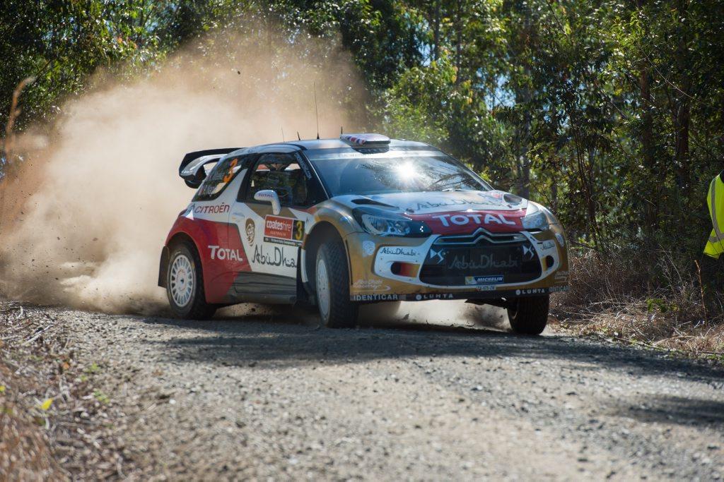 WRC coateshire rally australia shakedown session at Hydes creek. Kris Meeke. 11 September 2014. Photo Trevor Veale / Coffs Coast Advocate