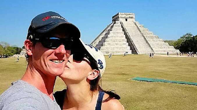 PROPOSAL: Martin Greenhalgh with fiancee Rachael Weidman.