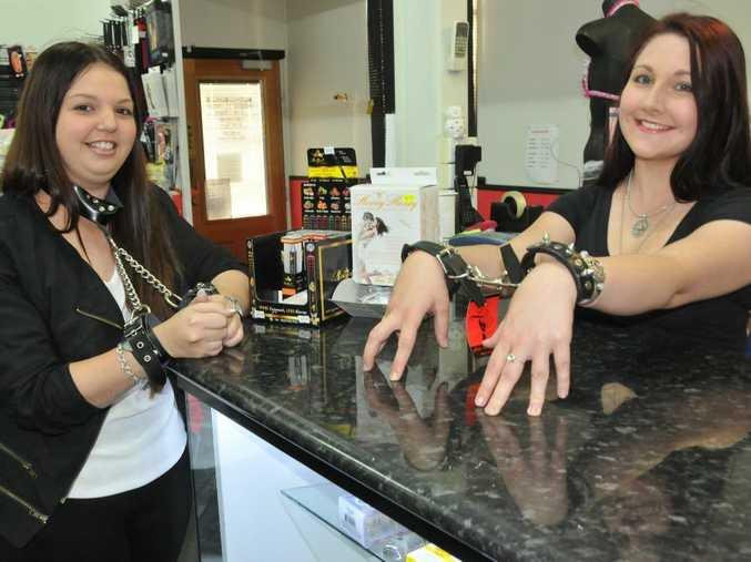 Customer Amanda Miller with A Bit Cheeky manager Rhiannon Gilson.