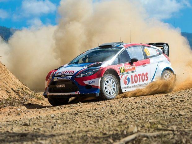 Coates Hire WRC rally, Stage 1 Hydes Creek Glennifer. Robert Kubica. 12 September 2014. Photo Trevor Veale / Coffs Coast Advocate