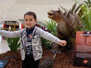 Prehistoric giants invade plaza