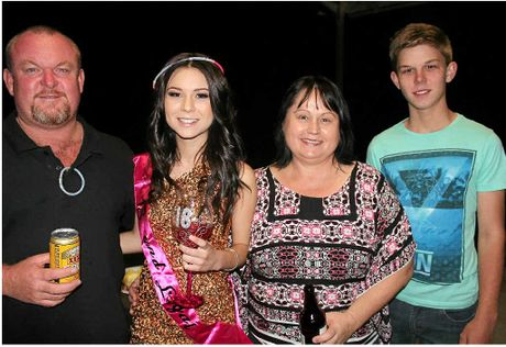 FAMILY TIES: Caitlyn Shadbolt with father Ian, mother Helen and brother Jake.