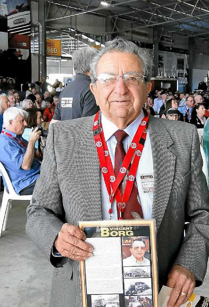 STANDING PROUDLY: Vince Borg at the National Road Transport Hall of Fame Reunion 2014.
