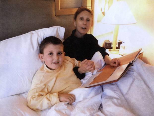 Pharmaceuticals entrepreneur Gigi Jordan, 54, with her son Jude Mirra.