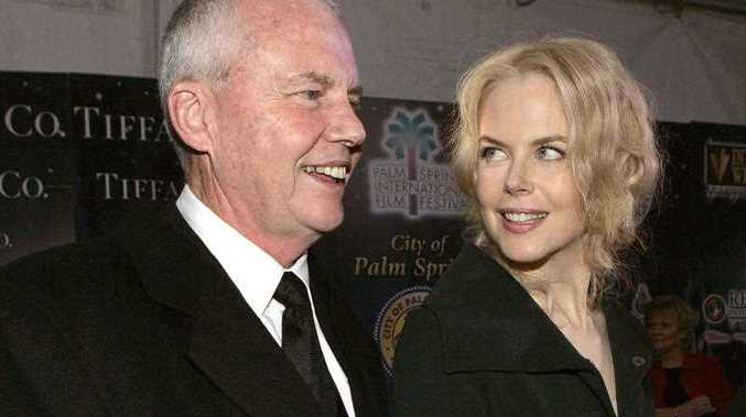 In this Jan. 8, 2005 file photo, psychologist Anthony Kidman, left, and his daughter, actress Nicole Kidman, arrive to the Palm Springs International Film Festival in Palm Springs, Calif. Authorities say Tony Kidman died Friday, Sept. 12, 2014, in Singapore.