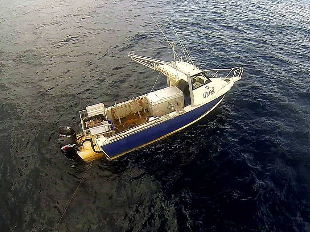 Mick Endres's deserted fishing boat 'Julie', was found empty 16 nautical miles east of Evans Head.