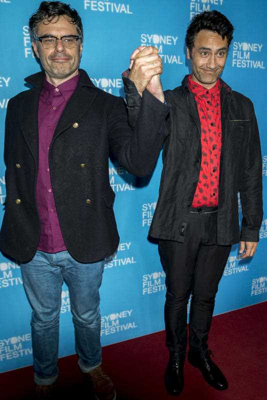 AUSTRALIA, Sydney: Jemaine Clement and Taika Waititi attend the Sydney Film Festival closing night on June 15, 2014. Their new film 'What we do in the Shadows', a mockumentary about vampire housemates, was the final screening at the State Theatre.