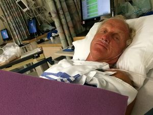 Golfing legend injures hand in chainsaw accident