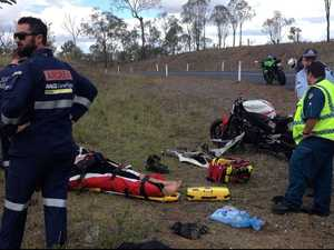 Man airlifted after crashing his motorbike at Coringa