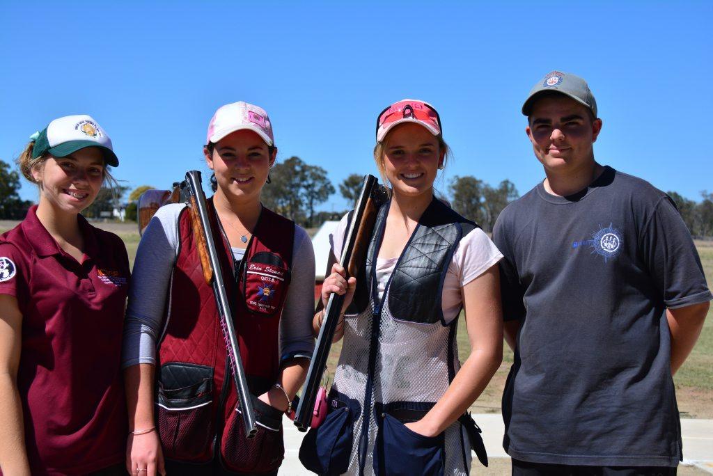 (From left) Jayd Powell, Erin Stewart, Tori Powell and Adam Bylsma.