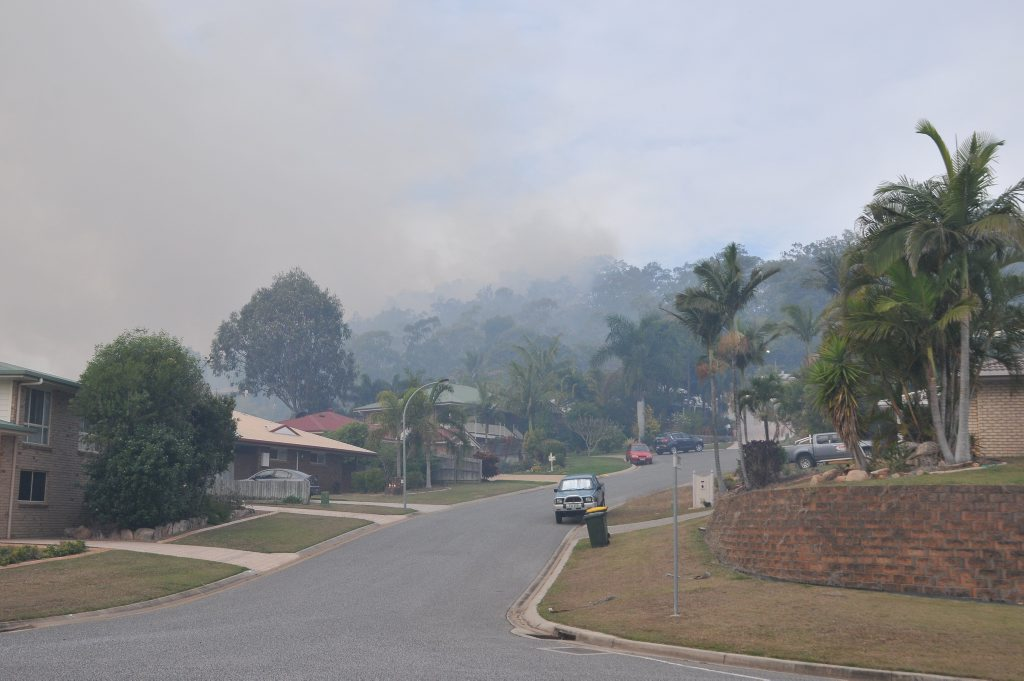 Three fire crews attend a large grass fire burning near Biondello Hill, Telina.