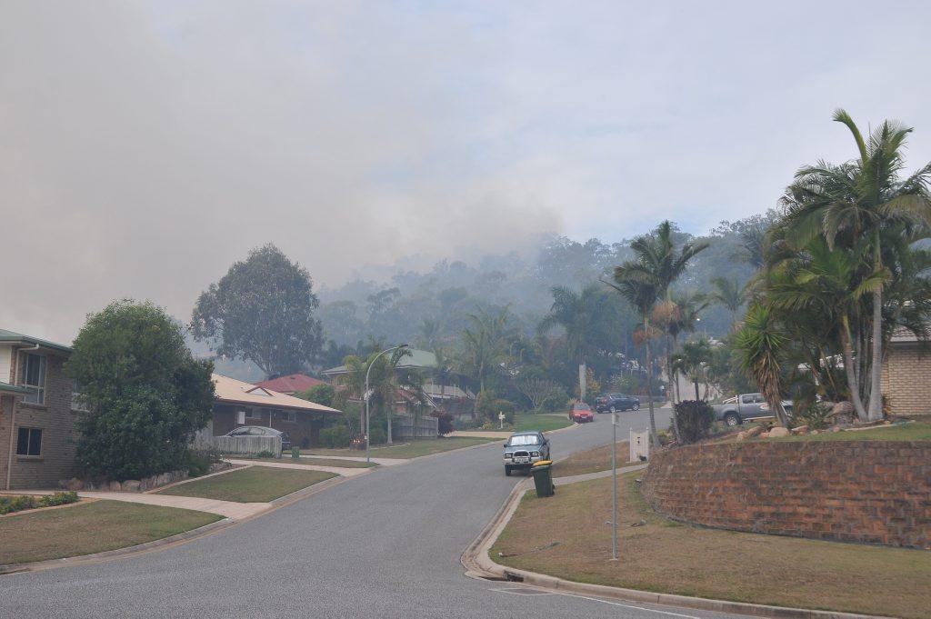 Three fire crews attend a large grass fire burning near Biondello Hill, Telina.