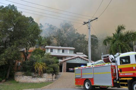 As at 3.45pm, three fire crews were attending a large grass fire burning near Biondello Hill, Telina.
