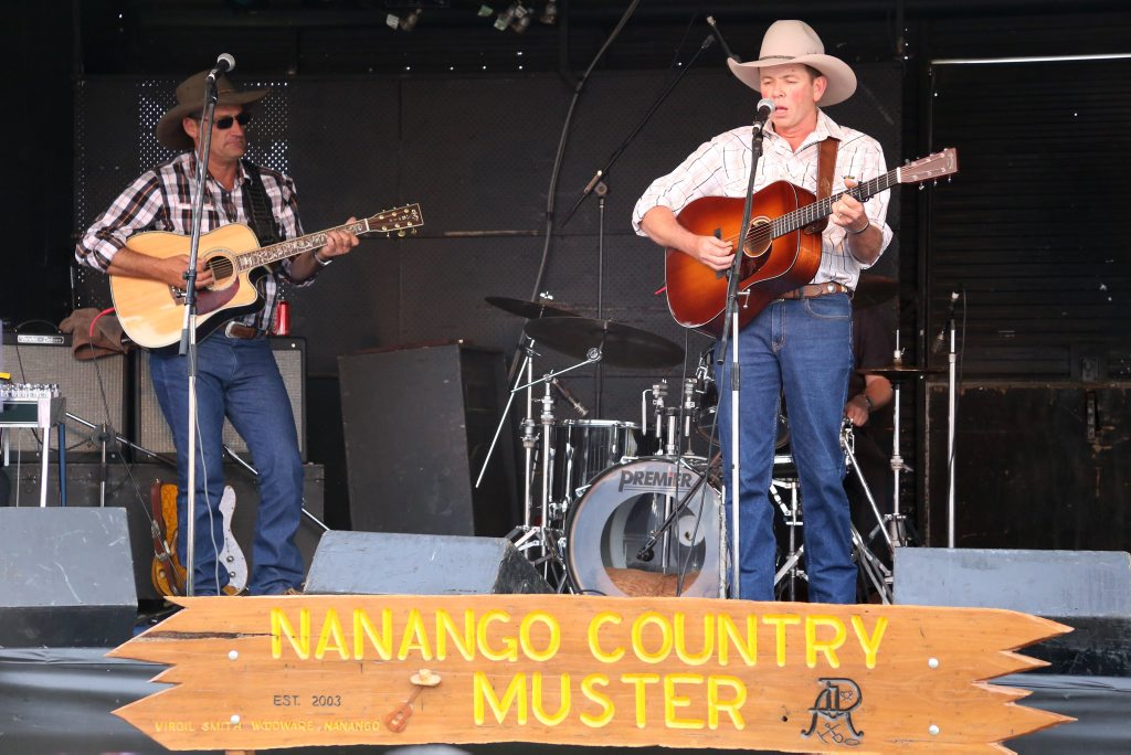Muster veteran Dean Perrett took to the stage on Saturday afternoon.