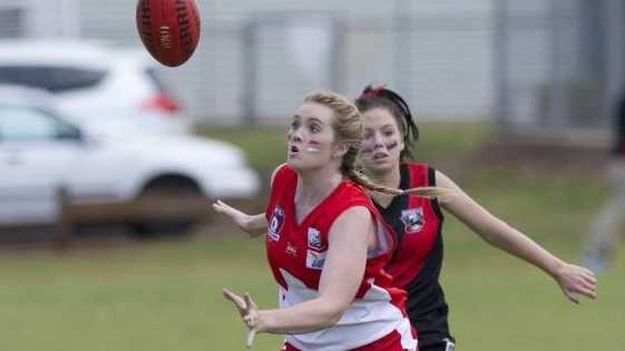 Megan Robertson in action for Dalby in their grand final victory over South Toowoomba.