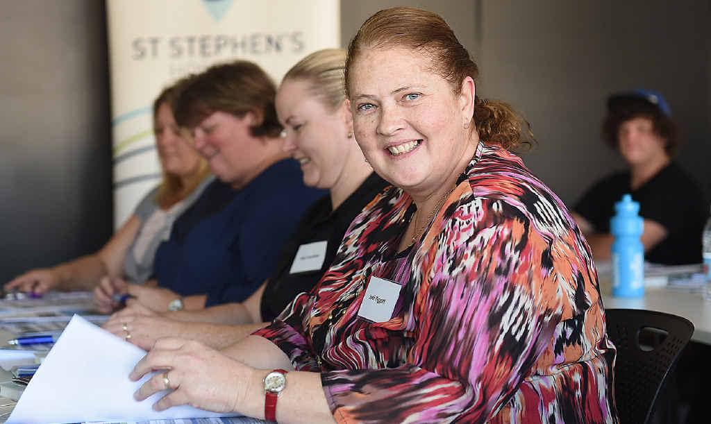St Stephen's Hospital employee Jodi Piggett taking part in the orientation program.