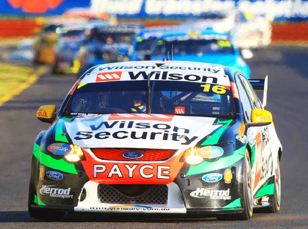 CONFIDENT PERFORMER: Ipswich racer Ash Walsh made up tremendous ground with the Dick Johnson Racing team at the Sandown 500 after some early challenges.