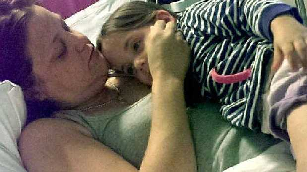IN NEED:Kathy Abbott with her daughter Phoebe.