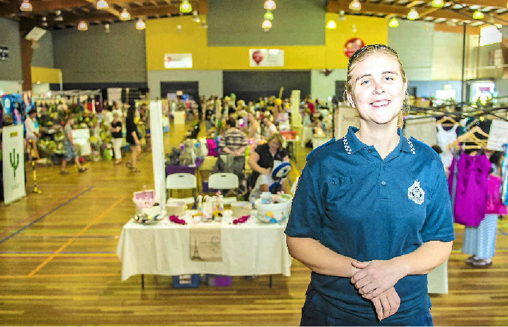 PCYC assistant branch manager Constable Ken Avery is proud of the way the PCYC markets have developed into a bustling Sunday morning hub.
