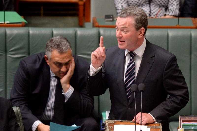 Education minister Christopher Pyne during House of Representatives question time at Parliament House Canberra, Thursday, Sept. 4, 2014.