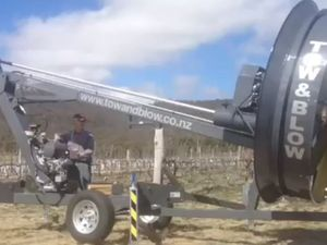 Portable frost fans fight vineyard frosts