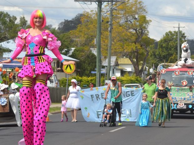 Saturday's parade was full of many colourful characters and creations.