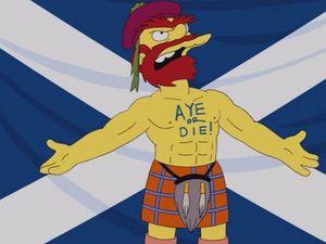 Groundskeeper Willie backs Scottish independence