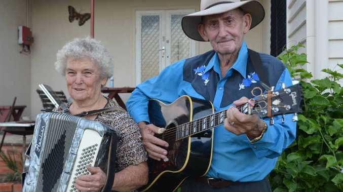 MUSIC MAN: Country music fans have paid tribute to Viv Kehl, pictured with wife Shirley.