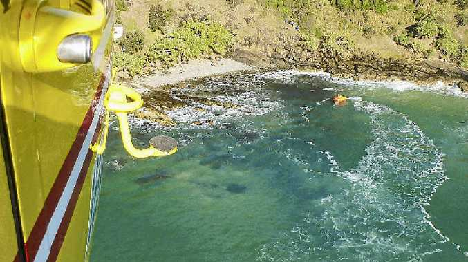 File image of the Westpac Life Saver Rescue Helicopter at Broken Head.