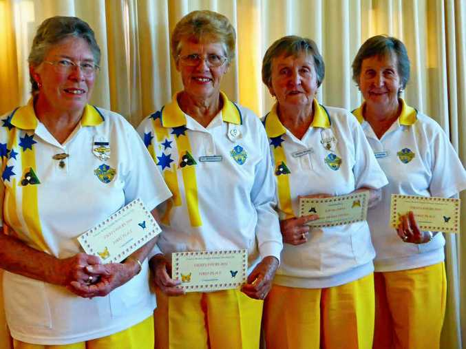 TOP TEAM: The winning team from the Fiesta Fours was (from left) Denise Wallace, Pat Baskerville, Shirley Bryant and Nola Fairfull.