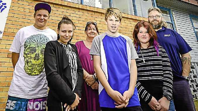 UNIQUE: Roseberry Community Services' Branchout staff and students Jack, 14, Nicole Morris, Karen Battams, Aaron, 14, Chloe, 14, and Craig Shields.
