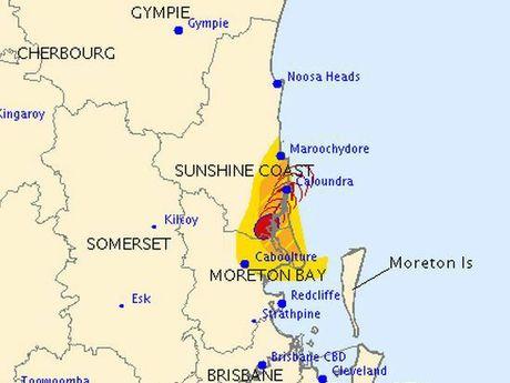 Bureau of Meteorology storm tracking map