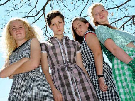 Fairholme College students are Sarah Maclean, Chelsea Lehmann, Bella Freeman and Ainslie Fraser.
