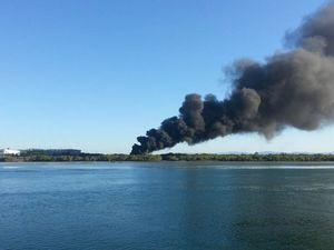 Firefighters battle blaze near Pioneer River